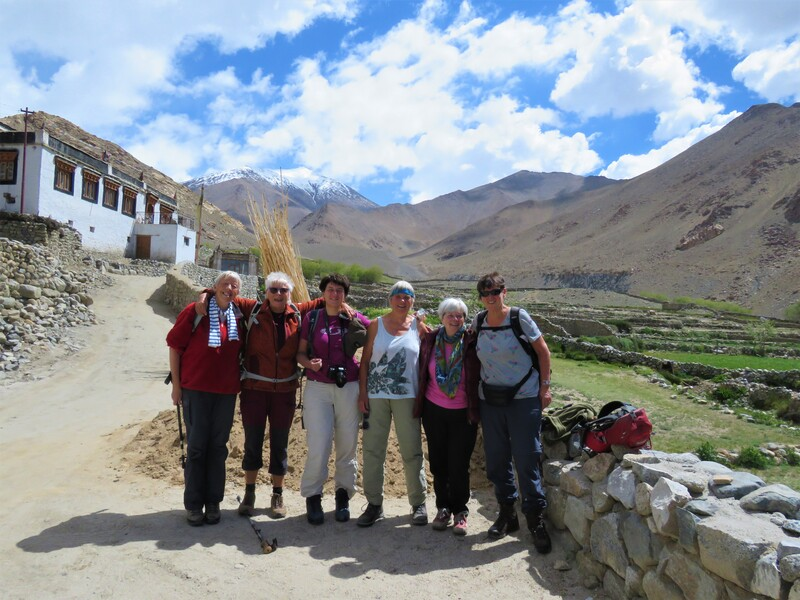 Motivated Women Group on its day trip in Phyang valley.
